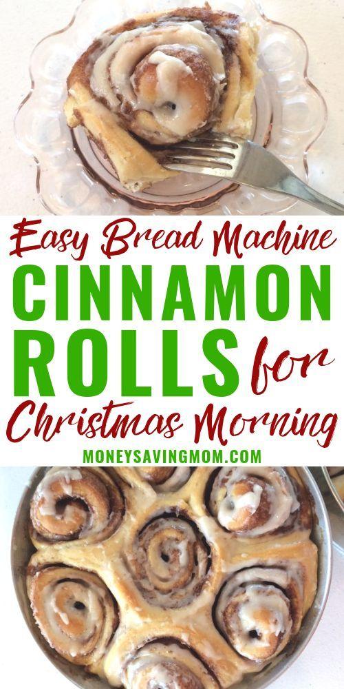 Easy Bread Machine Cinnamon Rolls Recipe | Bread machine ...