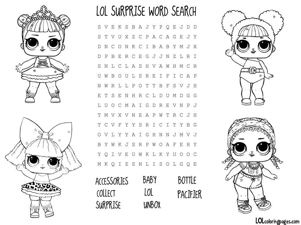 Lol Surprise Doll Coloring Pages Color Your Favorite Lol Surprise Doll Birthday Coloring Pages Lol Dolls Lol Doll Cake