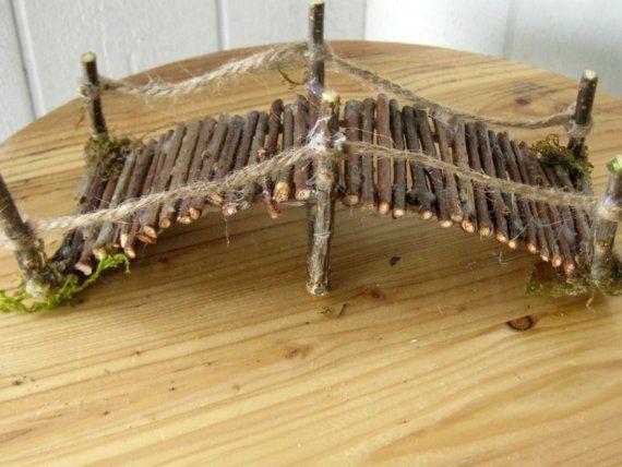 Handgefertigte Miniatur Garten Zweig Steg 7 Zoll von CLOUDFAIRY