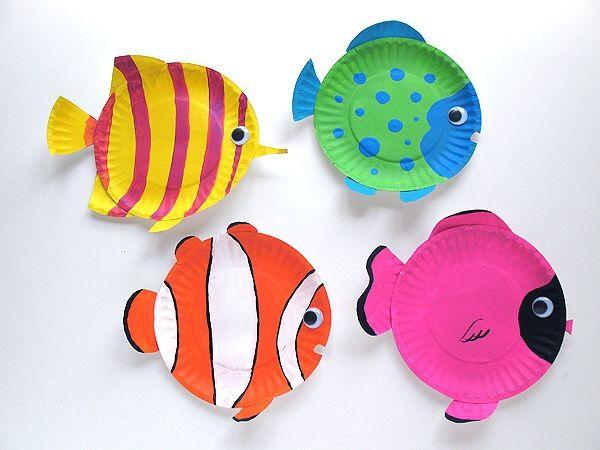 Rybky z papírových tácků