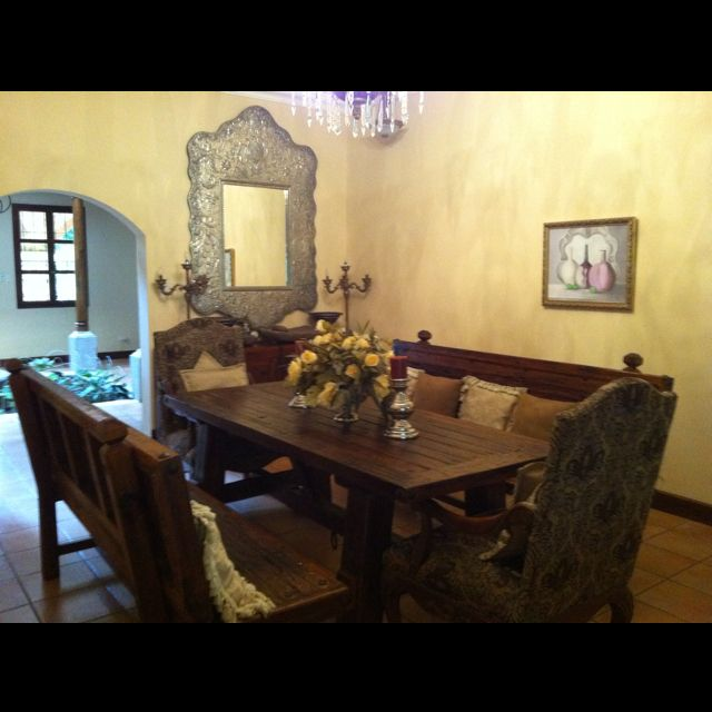 Spanish Dining  Spanish Decor Splash  Pinterest  Spanish Beauteous Spanish Dining Room Table Design Decoration