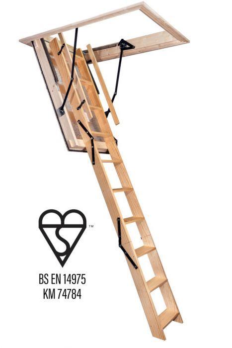 Best Stira Heavy Duty Timber Folding Loft Ladder Ladder 400 x 300