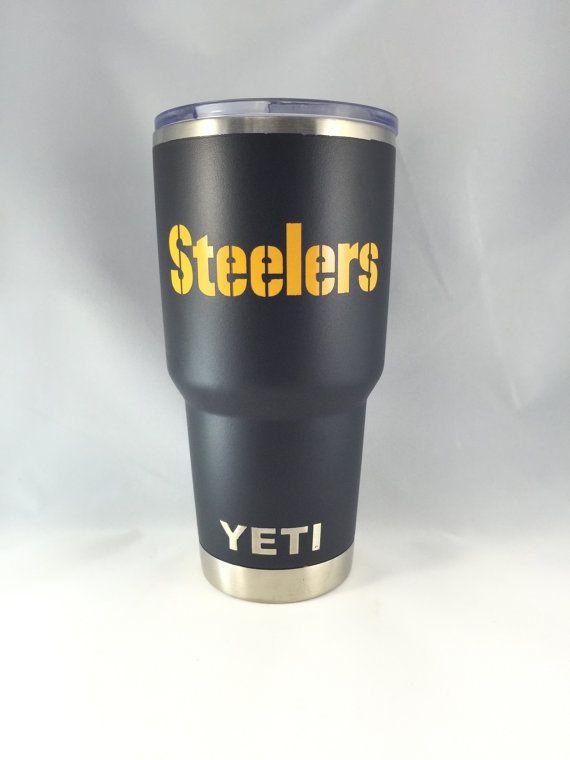 Pittsburg Steelers Yeti 30 Oz Rambler Tumbler Cup By