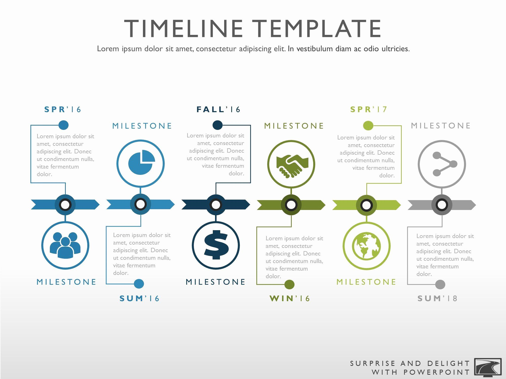 Graphic Design Timeline Template Fresh Six Phase Creative Timeline