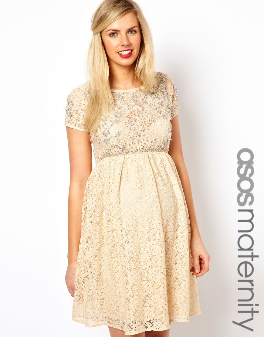 Asos maternity lace skater dress with embellishment fashion asos maternity lace skater dress with embellishment ombrellifo Choice Image