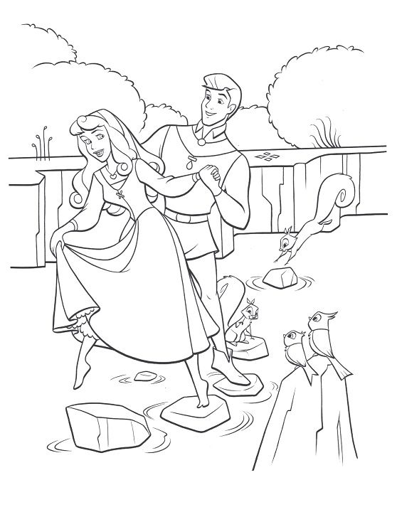 Disney Princess Coloring Pages Aurora Sleeping Beauty Printable