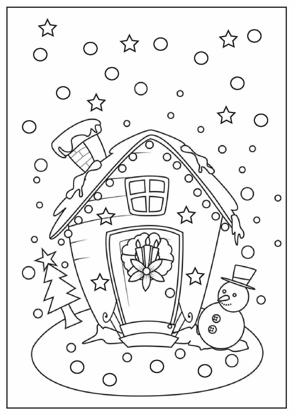 Christmas Coloring Pages Printable Scene  Printable christmas