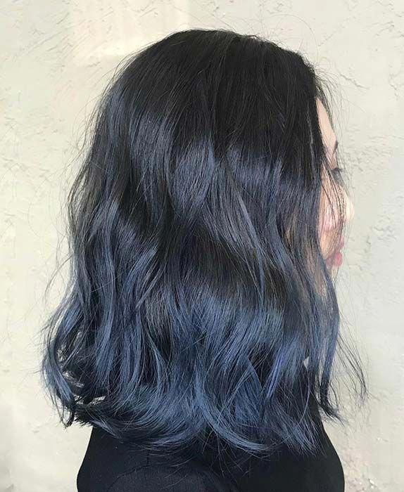 Photo of 41 atrevidas y hermosas ideas de color de cabello azul Ombre Página 3 de 4 | StayGlam #blac …
