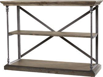 Console Table In Country Cottage Style With Brown Finish And Made Of - Country cottage console table