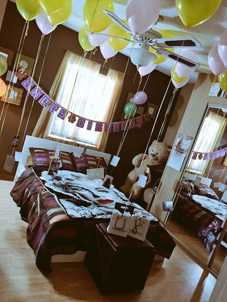 Room decoration ideas for anniversary - Cute Surprise Ideas For Her Surprise Anniversary Birthday Pictures Balloons