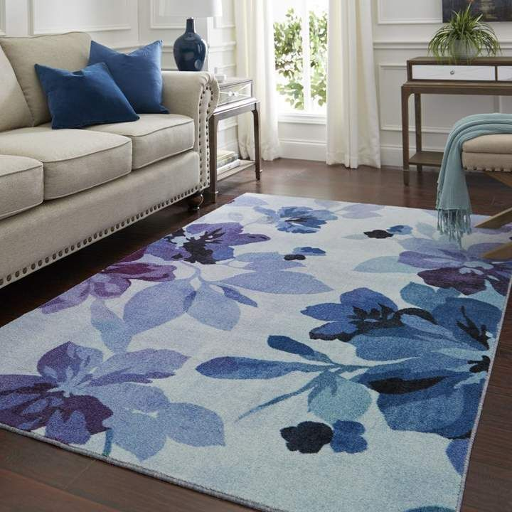Fedna Floral Purple/Azure/Cream Area Rug | Joss & Main -   16 room decor Purple blue ideas