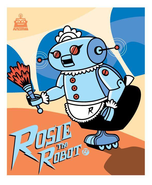 Robot of the Week: Rosie the Robot   Old cartoons, Old school cartoons,  Classic cartoons