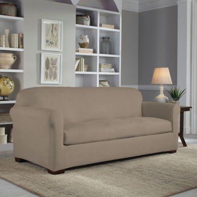 Superb Perfect Fit 2 Piece Reversible Sofa Slipcover Bed Bath Dailytribune Chair Design For Home Dailytribuneorg