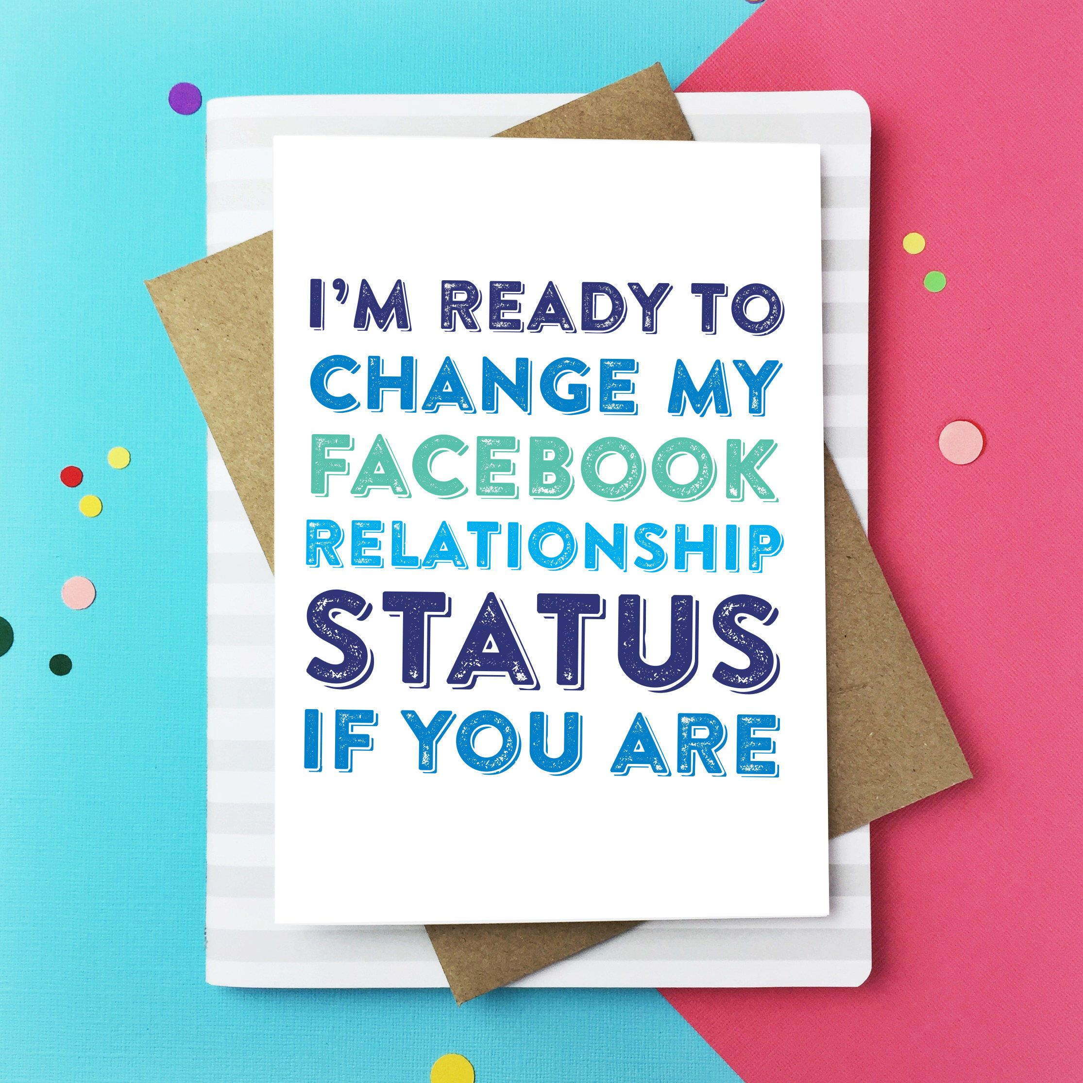 Im ready to change my facebook status funny typographic british im ready to change my facebook status funny typographic british made letterpress inspired greetings m4hsunfo Images