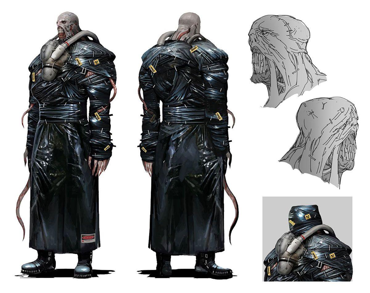 Nemesis Concept Art From Resident Evil 3 2020 Art Artwork