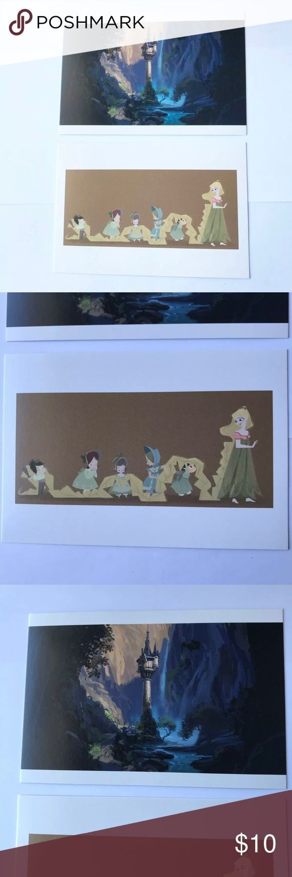 Disney Tangled Concept Art Collectible Postcards I