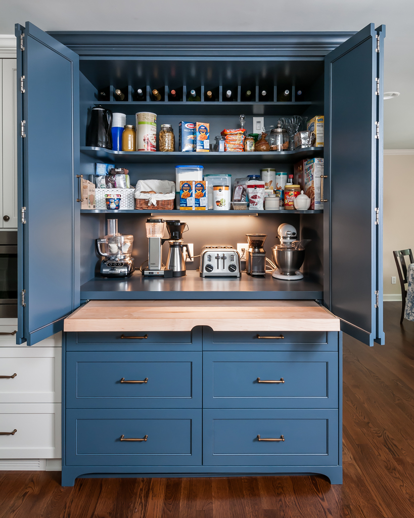 Dynamic Do-Over with Big Blue Pantry Cabinet - Roswell ...