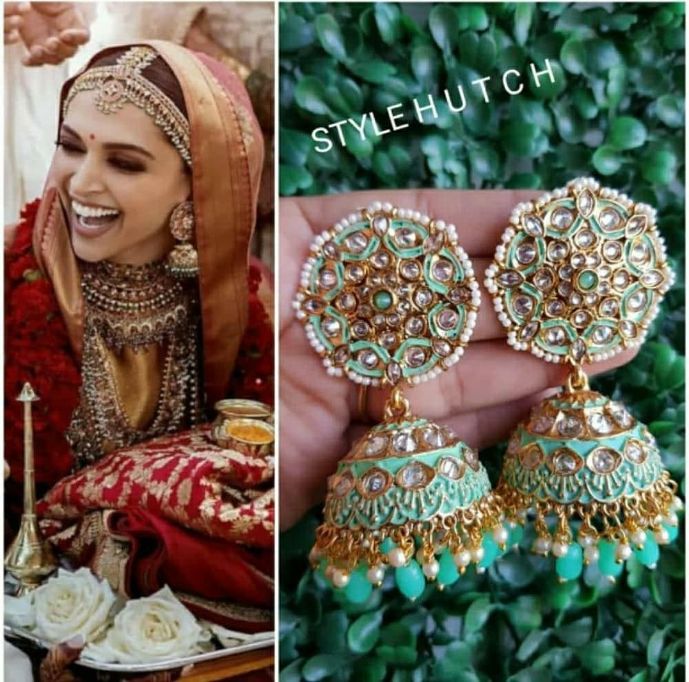 Deepika Padukone Wedding Collection Visit Hamsia Stores Fashion Jhumka Earrings Royal Clothing