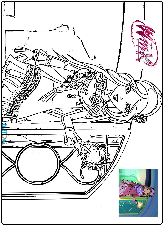 Disegni Da Colorare Della Serie 8 Del Cartone Animato Winx Club Con