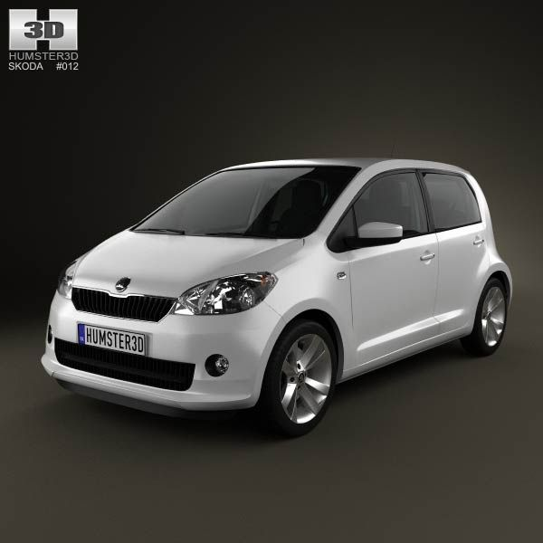 3d Model Of Skoda Citigo 5 Door With Hq Interior 2013 Volkswagen