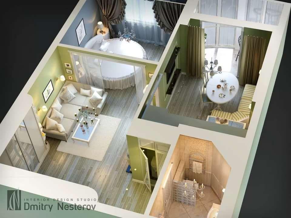 переделка однокомнатной квартиры в двухкомнатную фото: 12 ...