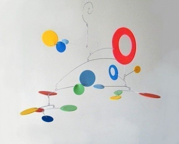 Wonderland Studio on etsy has floaty mobiles made of foam and aluminum wire