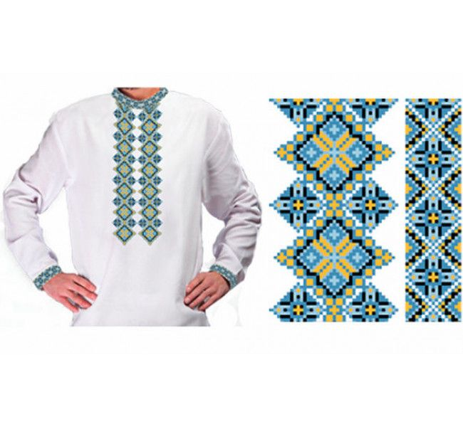 Бисерная заготовка сорочки ЧЛ-ЧС-27