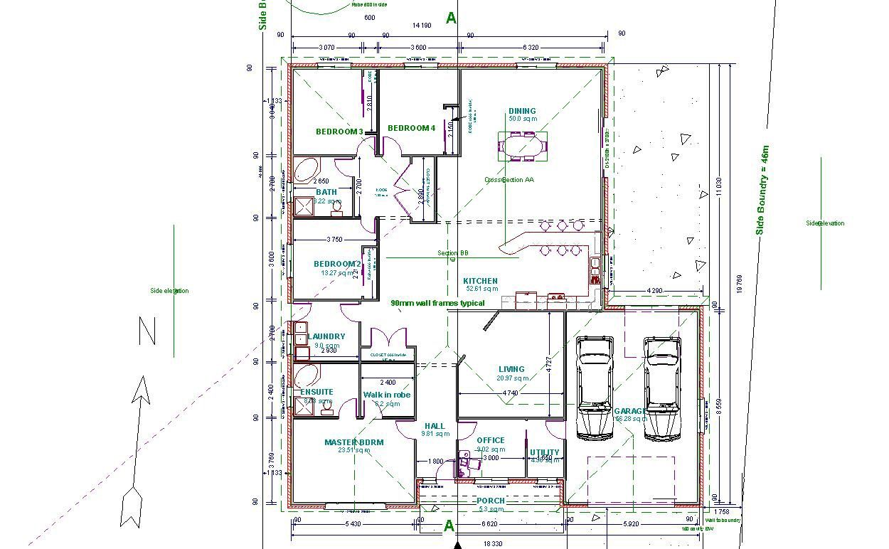 Autocad 2d floor plan projects to try pinterest autocad for House drawing plan layout