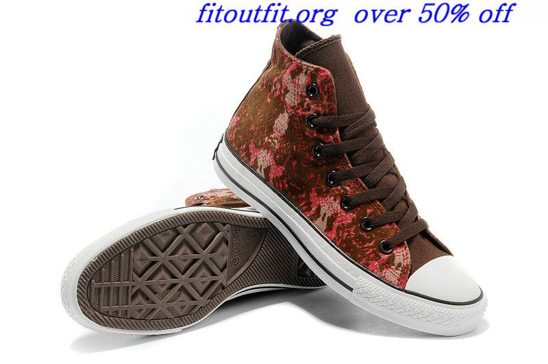 2013 Converse Chinese Year All Star Snake Texture Brown Red High Tops Womens Canvas Flocking