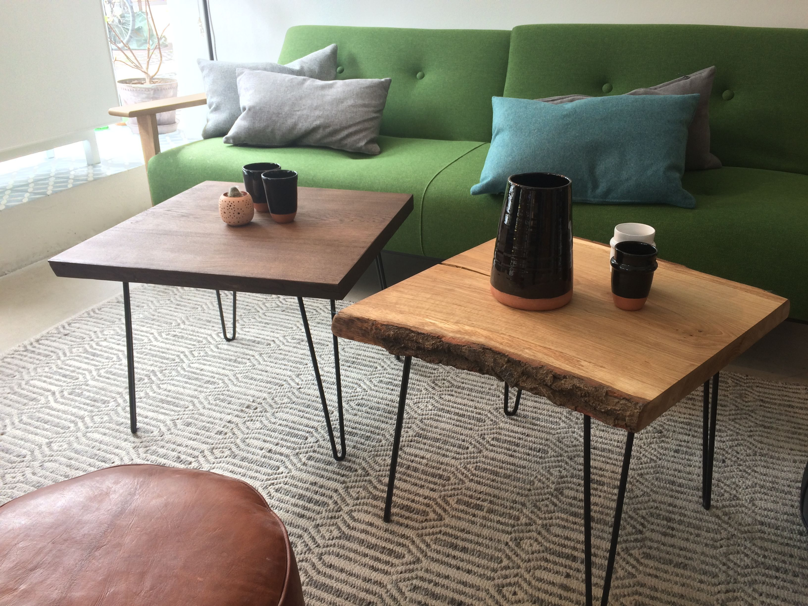 Lovely Little Plank Tables Used As Coffee Tables. Made Out Of Residues From  The Making