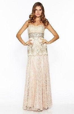 NWT Sue Wong Princess Cut Empire Waist Gown *Size 8