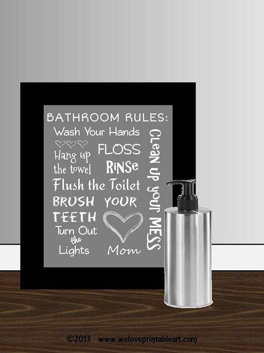 Funny Wall Art For Kids Bathroom Print Digital Download You Etsy Bathroom Wall Decor Art Bathroom Decor Bathroom Rules Kids