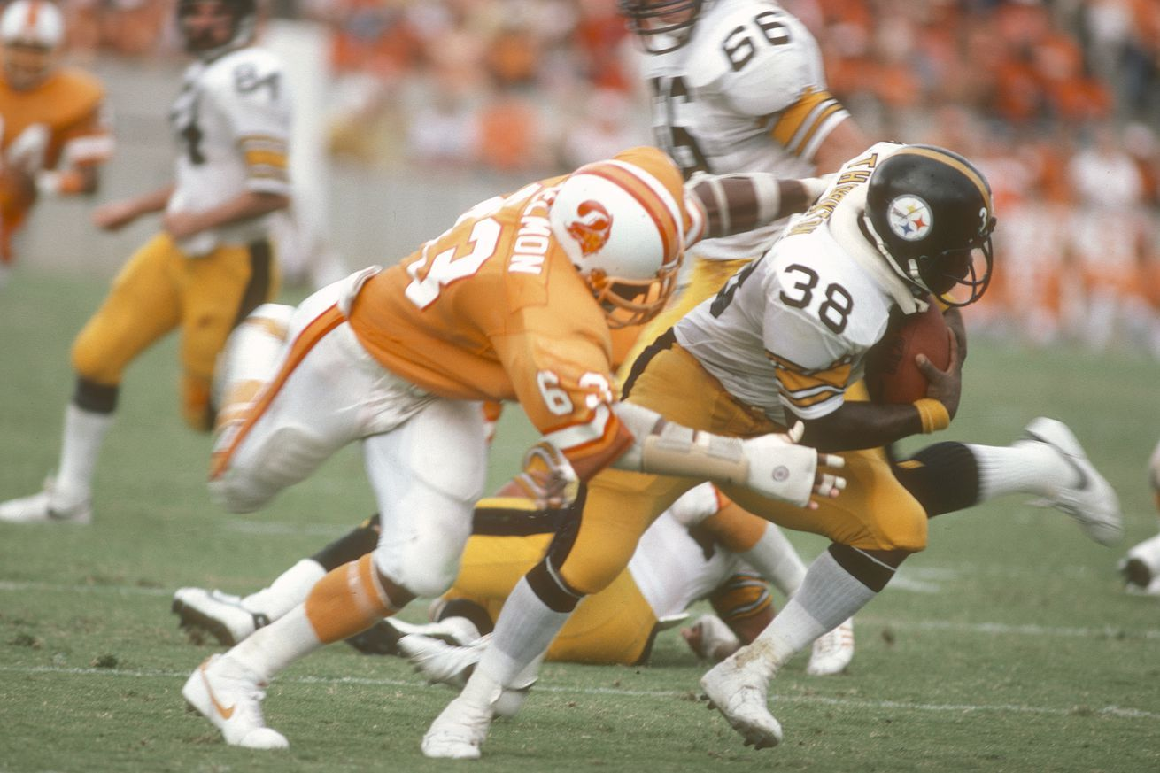 The classic Buccaneers creamsicle uniforms are badass