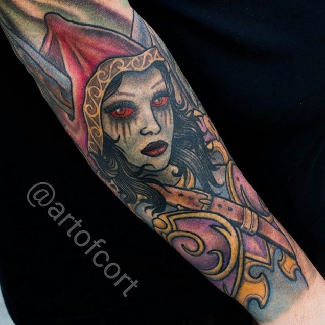 World Of Warcraft Tattoo Sleeve Worldofwarcraft Wow Tattoo