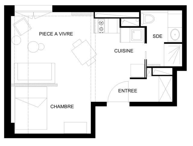 Appartement paris 10e 33 m2 totalement optimisés