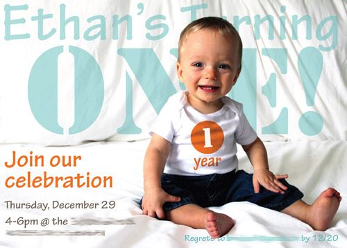 Ethans one year birthday bash diy birthday decorations first birthday ethans turning one photo invitation using photoshop text overlay one year filmwisefo
