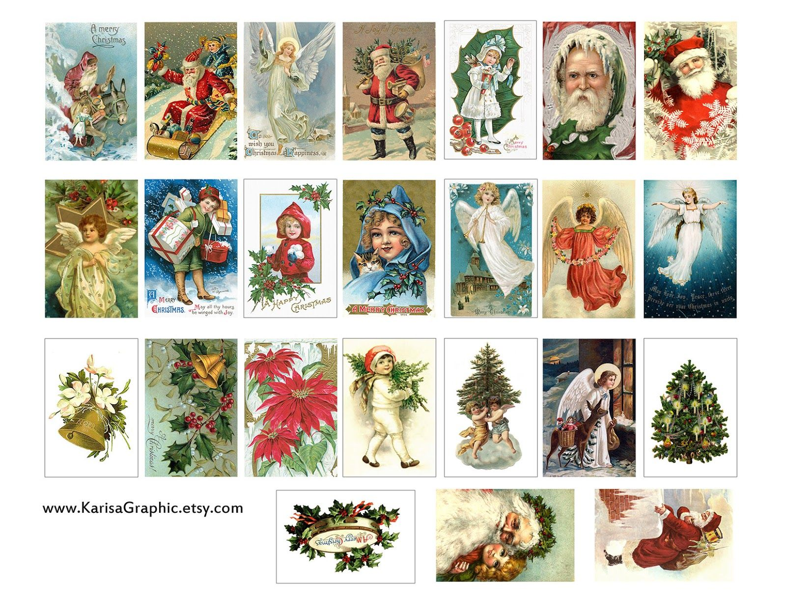 Free printable vintage christmas cards - Vintage Holiday Tags Printable Free The Size Of The Tags Is 2x1 25 Inch