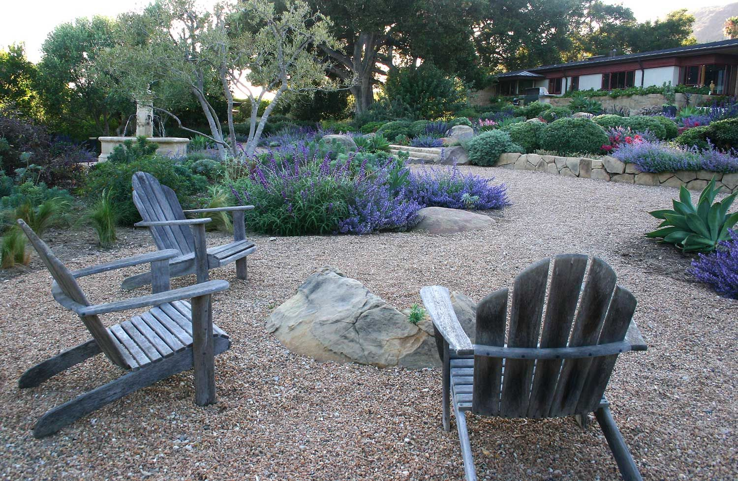 Modern Drought Tolerant Landscape Design Is Normally All Hard Lines. We Did  Something Different And Created Instead A Garden Of Color And Soft Curves.