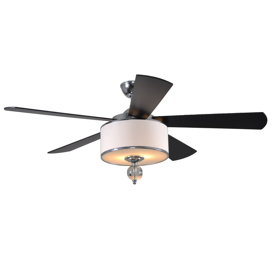 Shop allen roth 52 in victoria harbor polished chrome ceiling fan shop allen roth 52 in victoria harbor polished chrome ceiling fan with light kit at lowes aloadofball Image collections