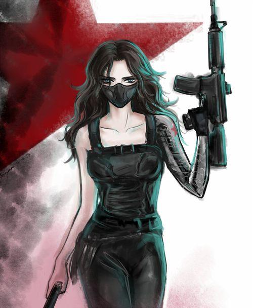 Female Winter Soldier ||| Captain America: The Winter Soldier Fan Art