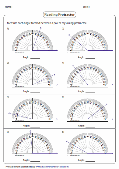 how to find azimuth with protractor