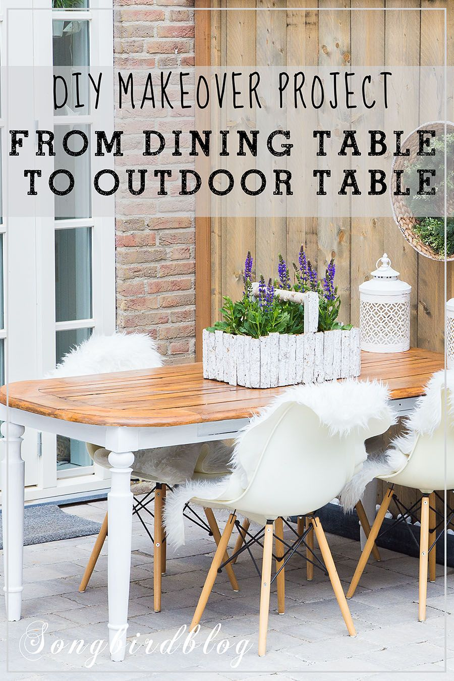How I Used An Old Wood Dining Table Outside Indoor Dining