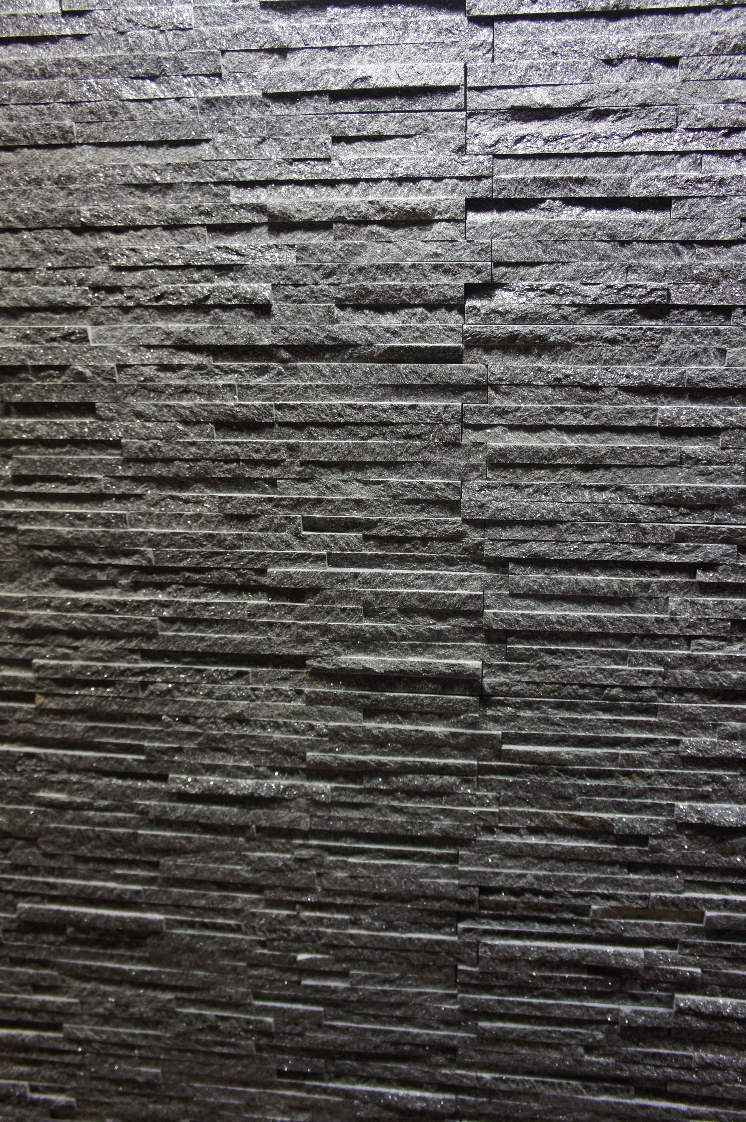 Dark Grey Stone wall cladding for your home Interior | Interior ...