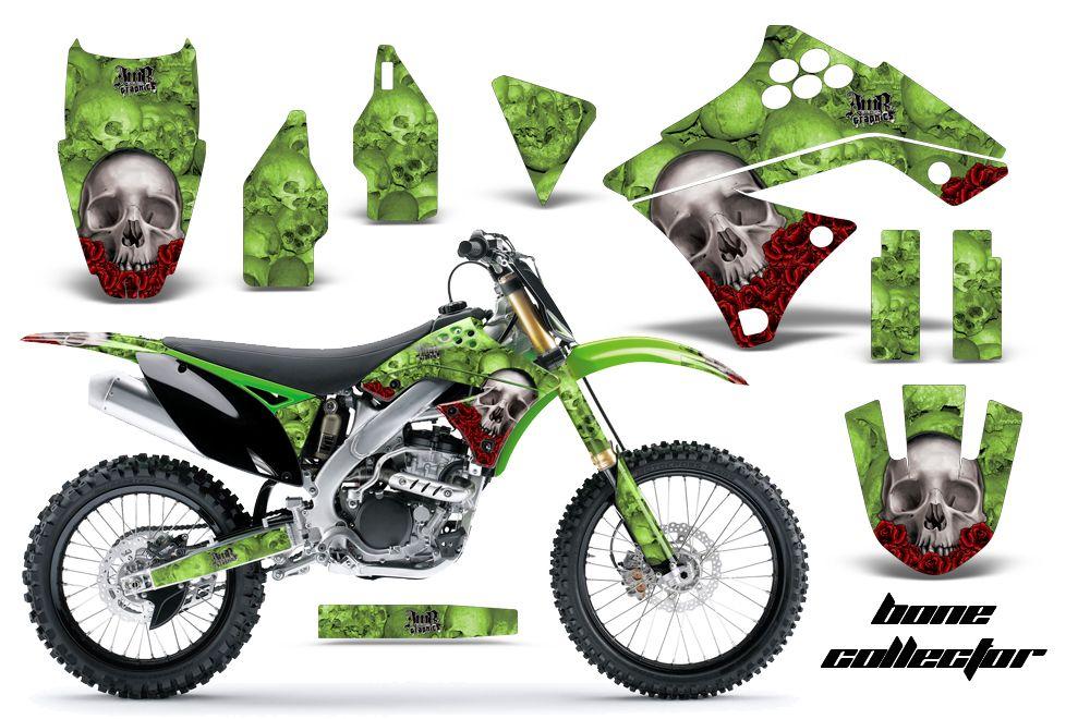 AMR Racing MX Graphic Kit Sticker Decal Bike Kawasaki KXF F - Cool custom motorcycle stickers