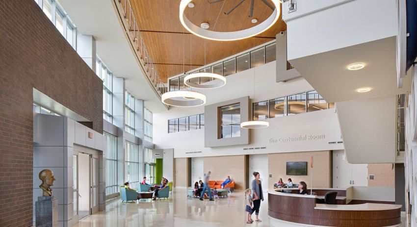 Lentz public health center public space healthcare - Interior design school nashville ...