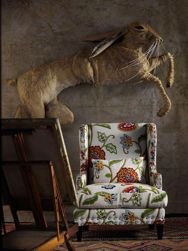 Fleming Chair In Zapote Multi Fabric