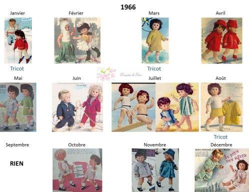 Modes et Travaux - Patrons poupée 1966