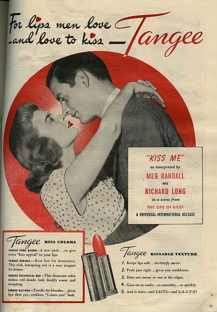 Tangee Lipstick Ad via Tattered and Lost