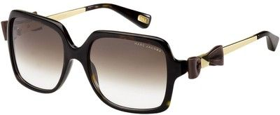 Marc Jacobs Collection Oversize Sunglasses with Ribbon Detail