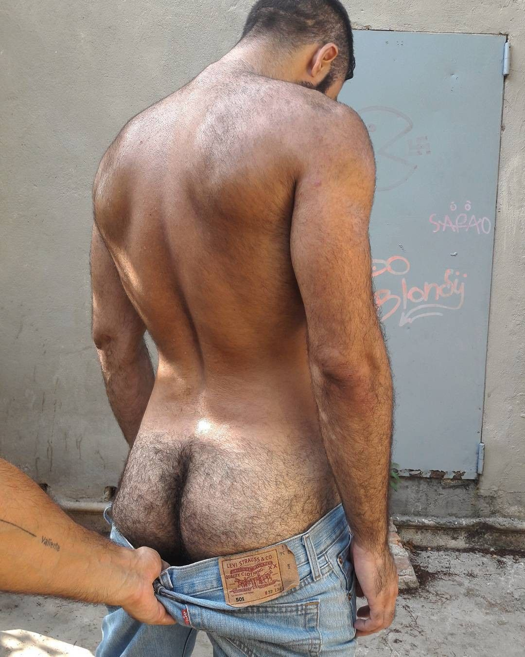 hairy gay man